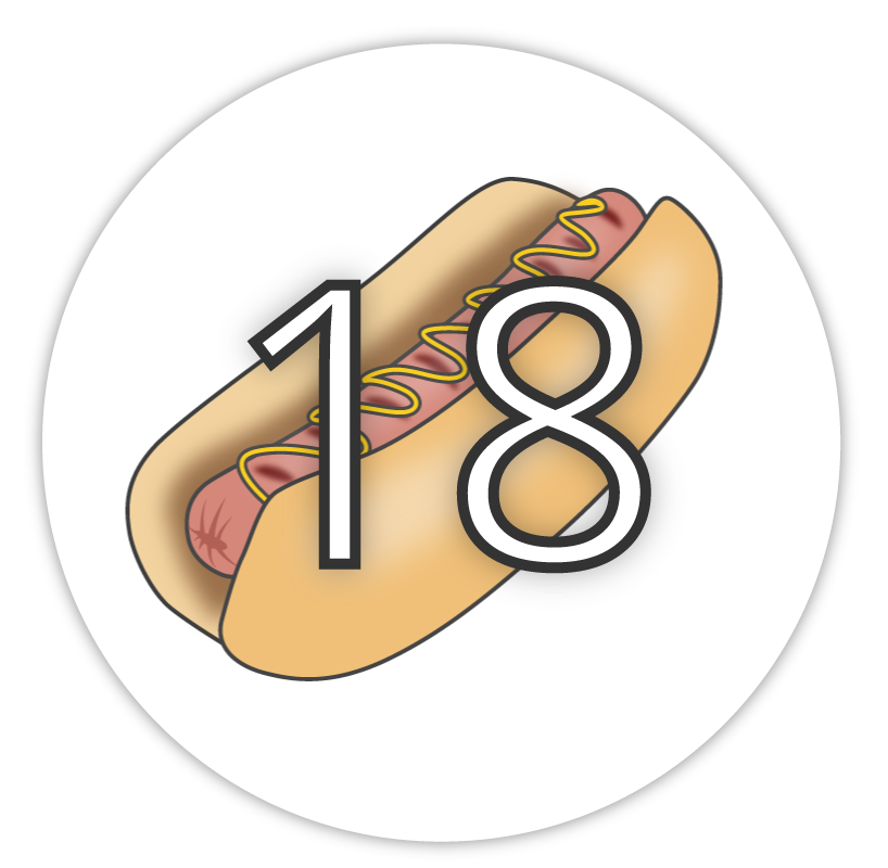 17 hotdogs